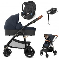 CBX Leotie Lux Leather Travel System - Jeansy Blue
