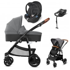 CBX Leotie Lux Leather Travel System - Comfy Grey