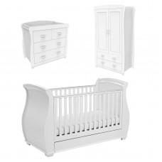 Babymore Bel 3 Piece Room Set - White