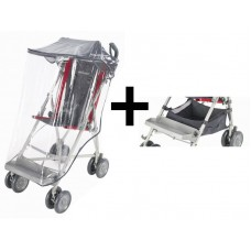 Maclaren Major Elite Buggy Hood + Raincover + Basket - Charcoal